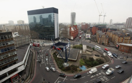 The undeveloped real estate: Old St Roundabout
