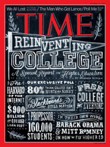 October 2012 edition of Time: MOOCs were everywhere in 2012.