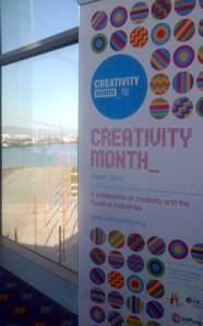 Its Creativity Month in Belfast, with a rear window view on a past industrial heritage